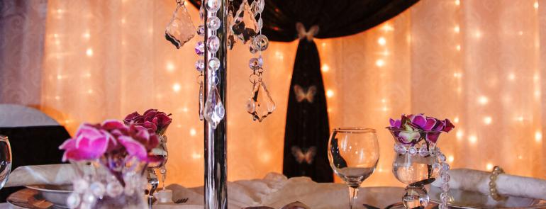 Esküvői fényfüggöny dekoráció