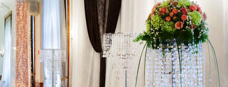Exkluzív esküvői kristály dekoráció