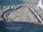 Balatonparti ceremónia dekoráció homokos parton